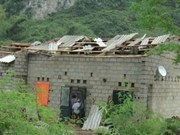 Whirlwind, hail storm cause damages in Cao Bang