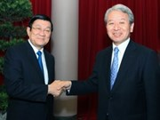 Leaders receive new JICA President