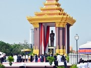 Cambodia unveils statue of late King Father Sihanouk