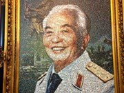 Artist shows respect for General Vo Nguyen Giap in unique way