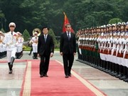 President Sang welcomes Bulgarian counterpart to Hanoi