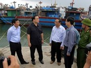 Deputy PMs inspect preparations for typhoon Haiyan