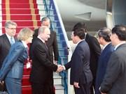 Russian President begins visit to Vietnam