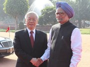 Party leader holds talks with Indian PM