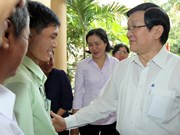 President listens to HCM City voters' opinions
