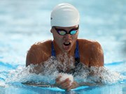 Female swimmer secures historical first gold