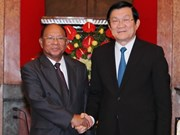 President meets Cambodian legislative leader