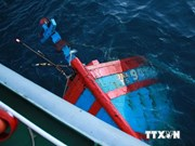 Fishing boat sunk by Chinese ship salvaged