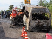 Vietnamese victims of Thai road accident identified
