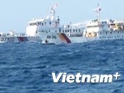 Chinese ships damage Vietnamese fisheries surveillance vessel