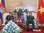 Defence officer receives Cambodian guest