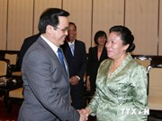 Lao Party officials visit Vietnam
