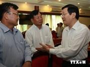 President Sang meets HCM City entrepreneurs