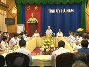 Party leader visits Ha Nam province