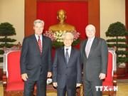 Party leader welcomes US Senators