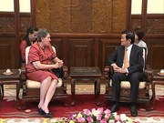 Brazilian Ambassador bids farewell to President Sang