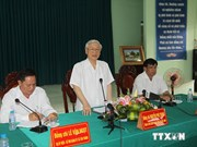 Party chief asks Hau Giang to develop hi-tech agriculture