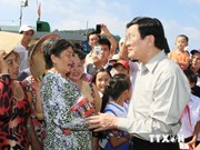 President tours Kien Giang's islands
