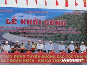 PM Dung orders start of construction on new Thai Nguyen-Bac Kan highway
