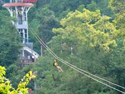 Zip line attracts tourists to Phong Nha-Ke Bang