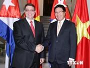Deputy PM, FM holds talk with Cuban FM