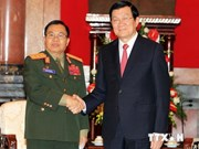 President Sang receives Lao Defence Minister