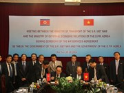 Vietnam, DPRK sign air transport deal