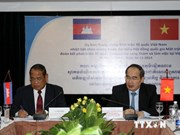 Vietnam Fatherland Front chief meets Cambodian guests