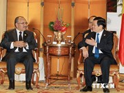 President meets world leaders on APEC summit sidelines