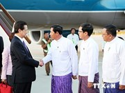 PM arrives in Myanmar for 25th ASEAN Summit
