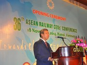 Hanoi hosts 36th ASEAN Railway CEOs' Conference