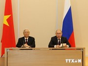 Party chief's visit makes headlines in Russia