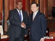 President Truong Tan Sang greets Ethiopian Deputy PM
