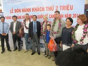Cam Ranh airport welcomes 2 millionth visitor