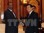 President greets Sudan top legislator
