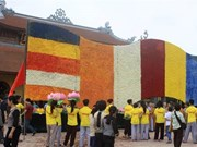 Vietnam floral Buddhist flag earns world record