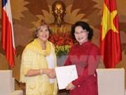 NA Vice Chairwoman receives Chilean parliamentarian