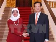 Leaders greet Singapore parliament speaker