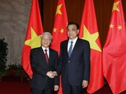 Vietnam Party chief meets Chinese Premier, NPC Chairman