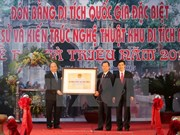 Thanh Hoa: Ba Trieu relic site receives national honour