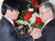 Iranian Ambassador receives peace insignia