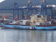 Huge ship enters Hai Phong Port