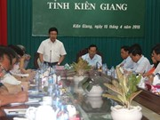 Deputy PM discusses Kien Giang's FDI, border management