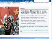 Global media covers Vietnam's reunification milestone