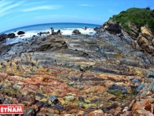 Magnificient Mong Rong rocky shore