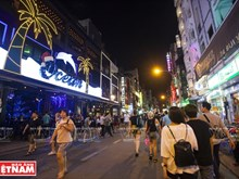 Bustling street for foreigners in HCM City