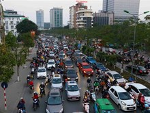 Hanoi suffers traffic jams ahead of Tet