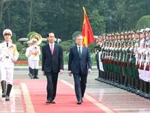 Ceremony held to welcome RoK President in Hanoi