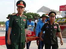 Solemn farewell to late volunteer soldiers at military funeral
