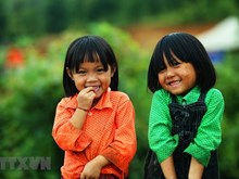 Innocent smiles of mountainous children
